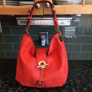 Melie  Blanco Orange Hobo Bag